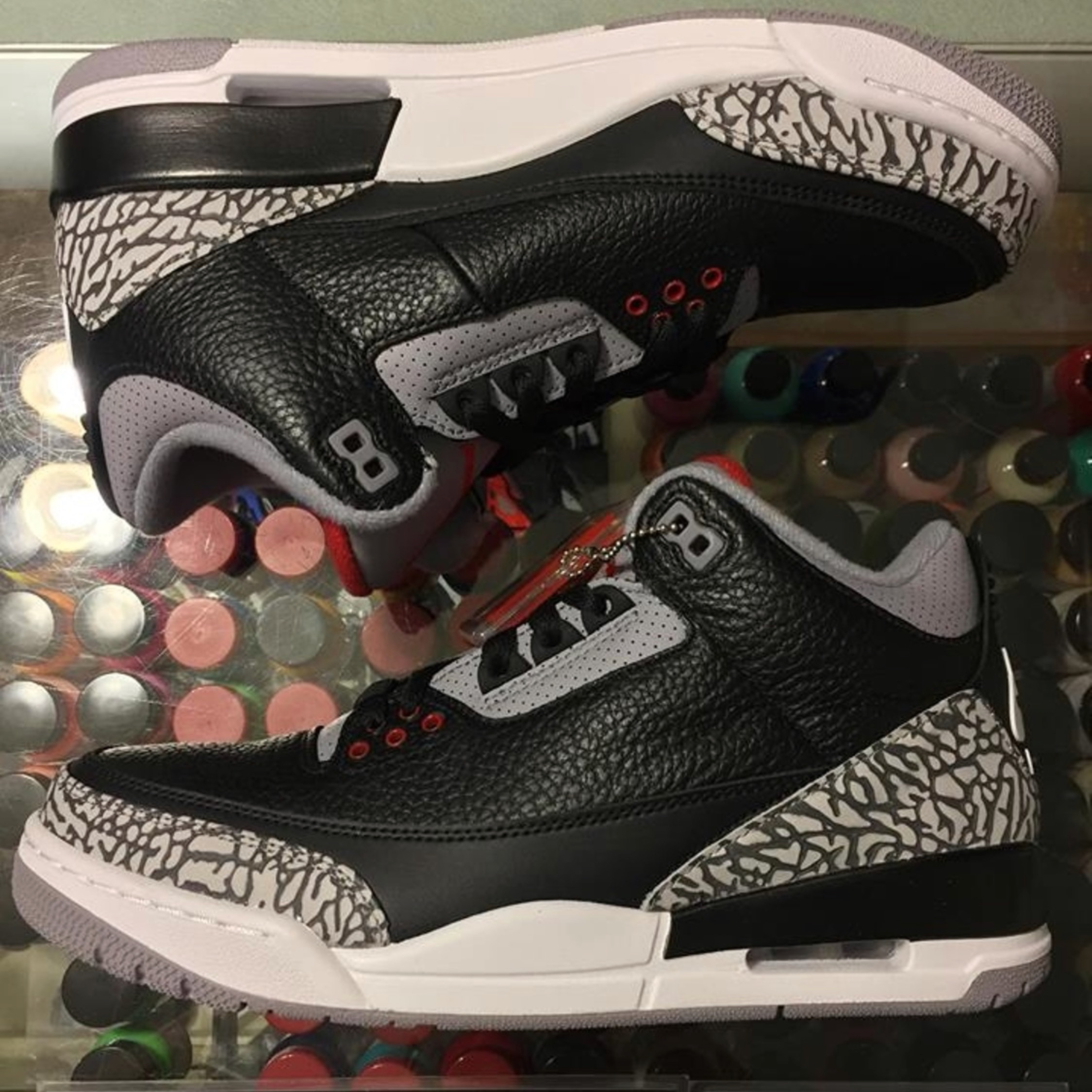 info for ea7f5 42d01 Nike Jordan Black Cement 3 Size 7 Sneakers