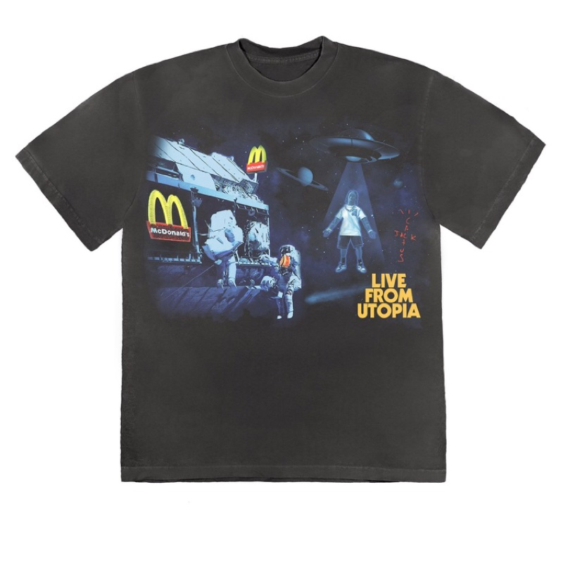 Travis Scott McDonalds Live From Utopia T-Shirt