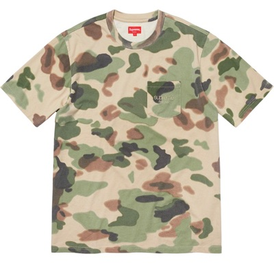 Supreme Overdyed Pocket Tee Painted Camo