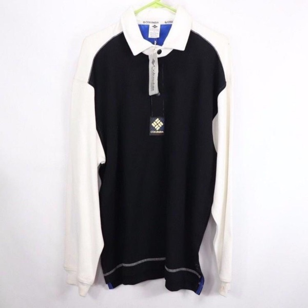 Vintage Columbia Spellout Rugby Shirt