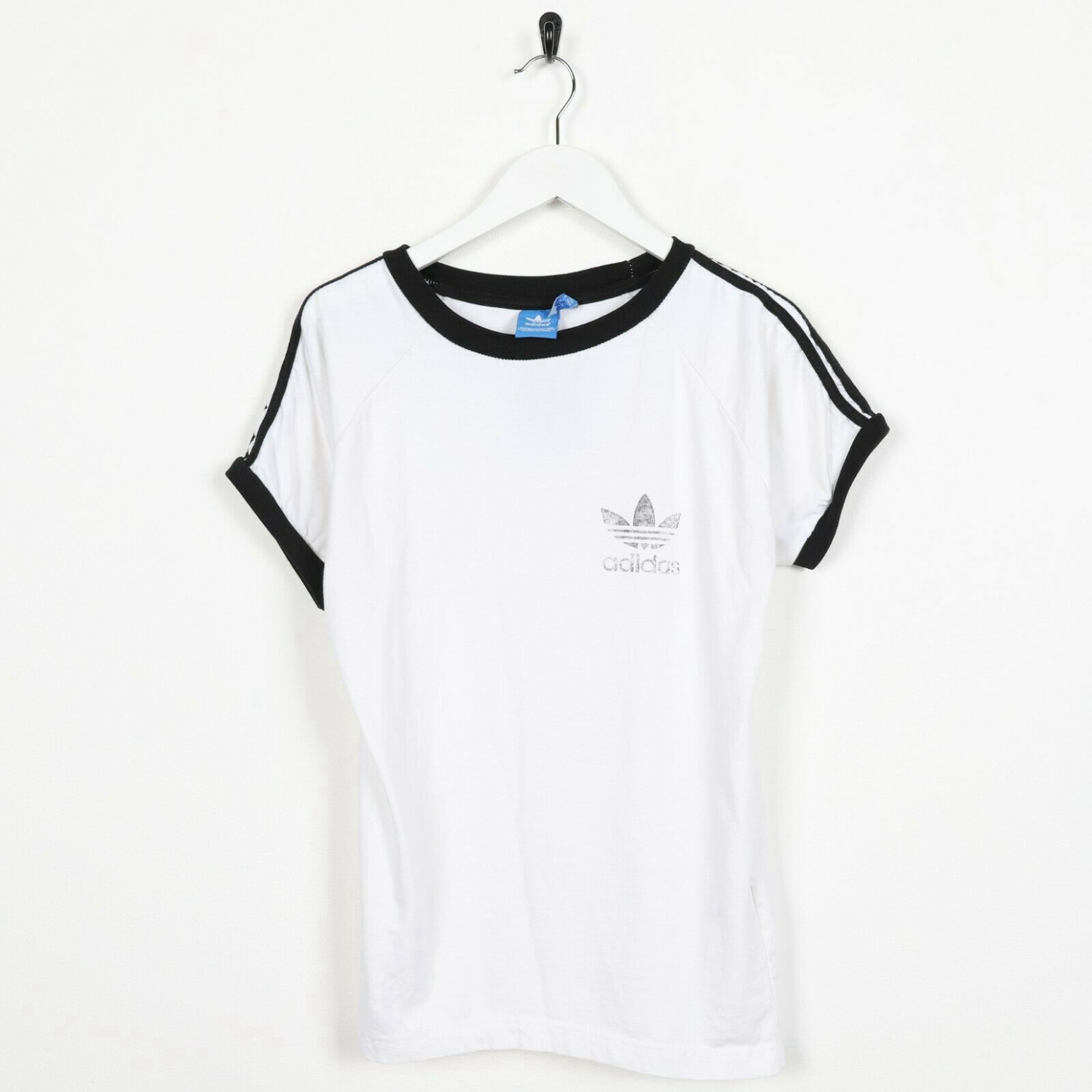 Unisex Vintage ADIDAS ORIGINALS Small Logo T Shirt Tee White | Medium M