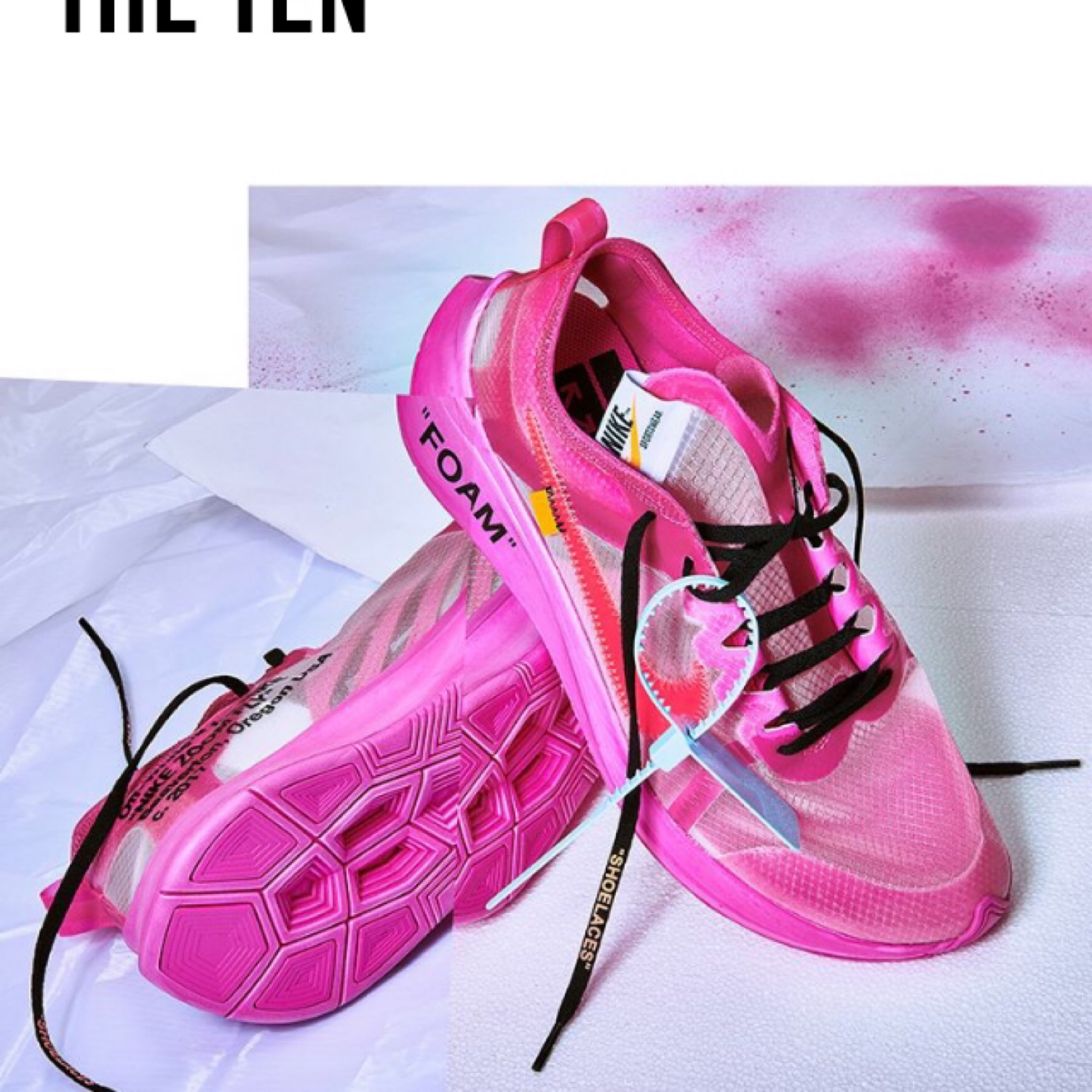 cheap prices online shop best service Off White X Nike Zoom Fly Sp Pink