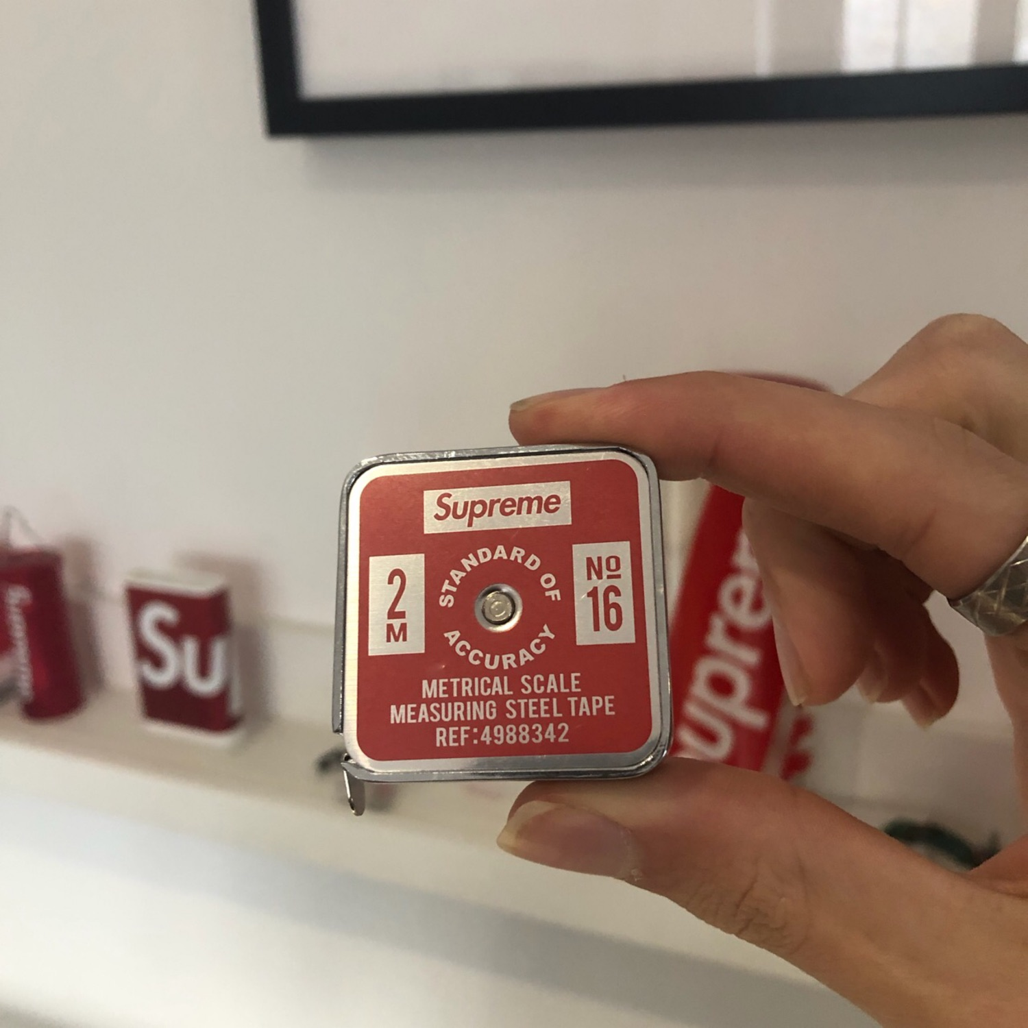 Supreme Penco Tape Measure (Metric) Red