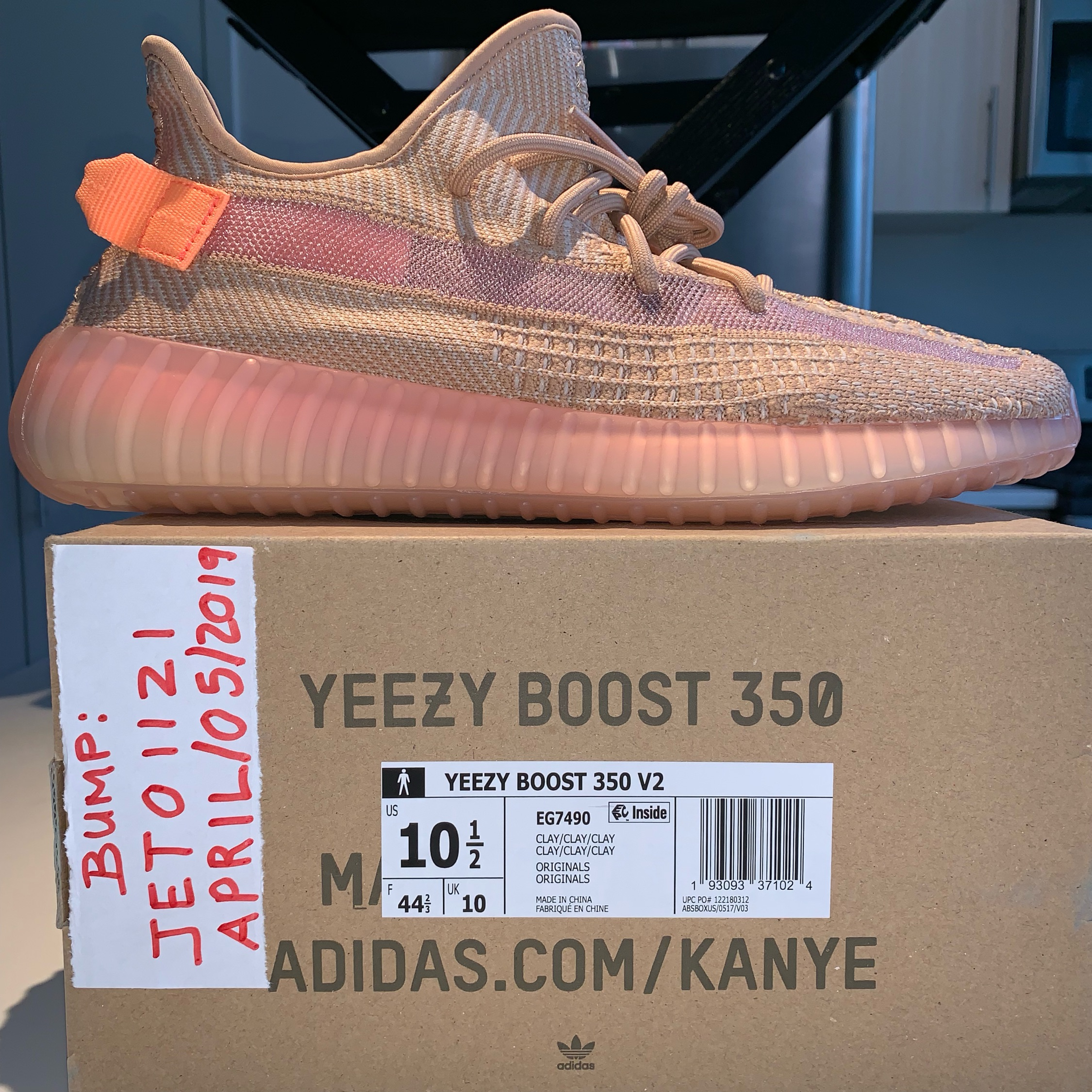 Detailed look at the adidas Yeezy Boost 350 V2 Clay Slickies