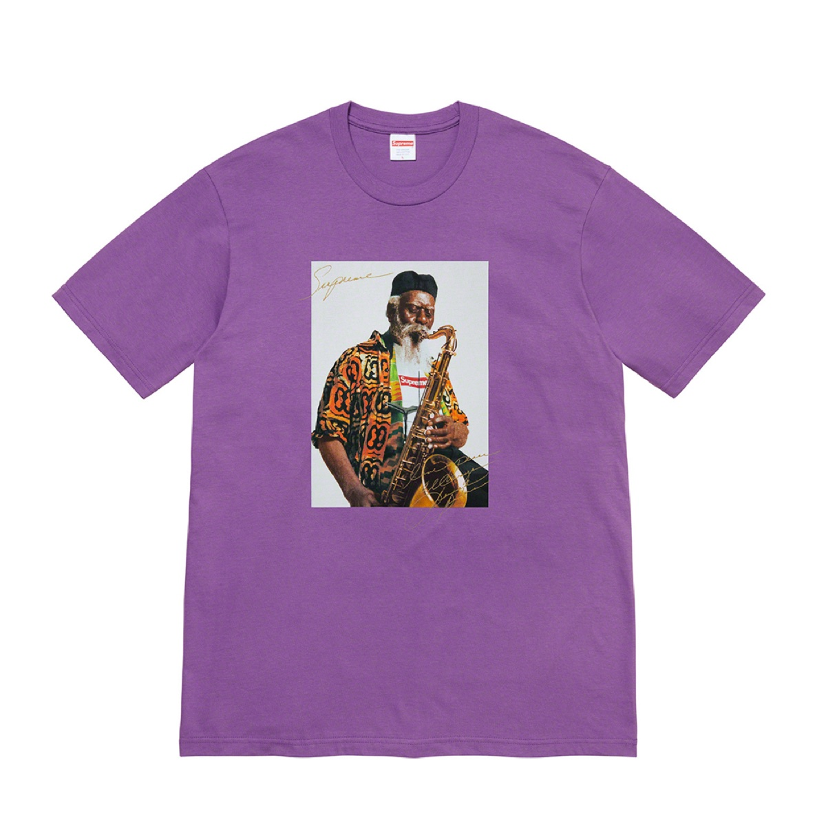 Supreme Pharoah Sanders Tee Purple