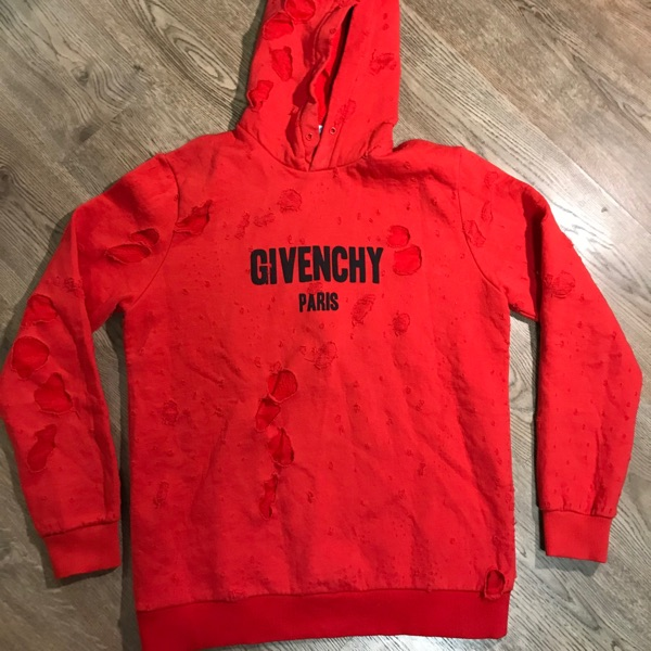 Givenchy Paris Destroyed Hoodie
