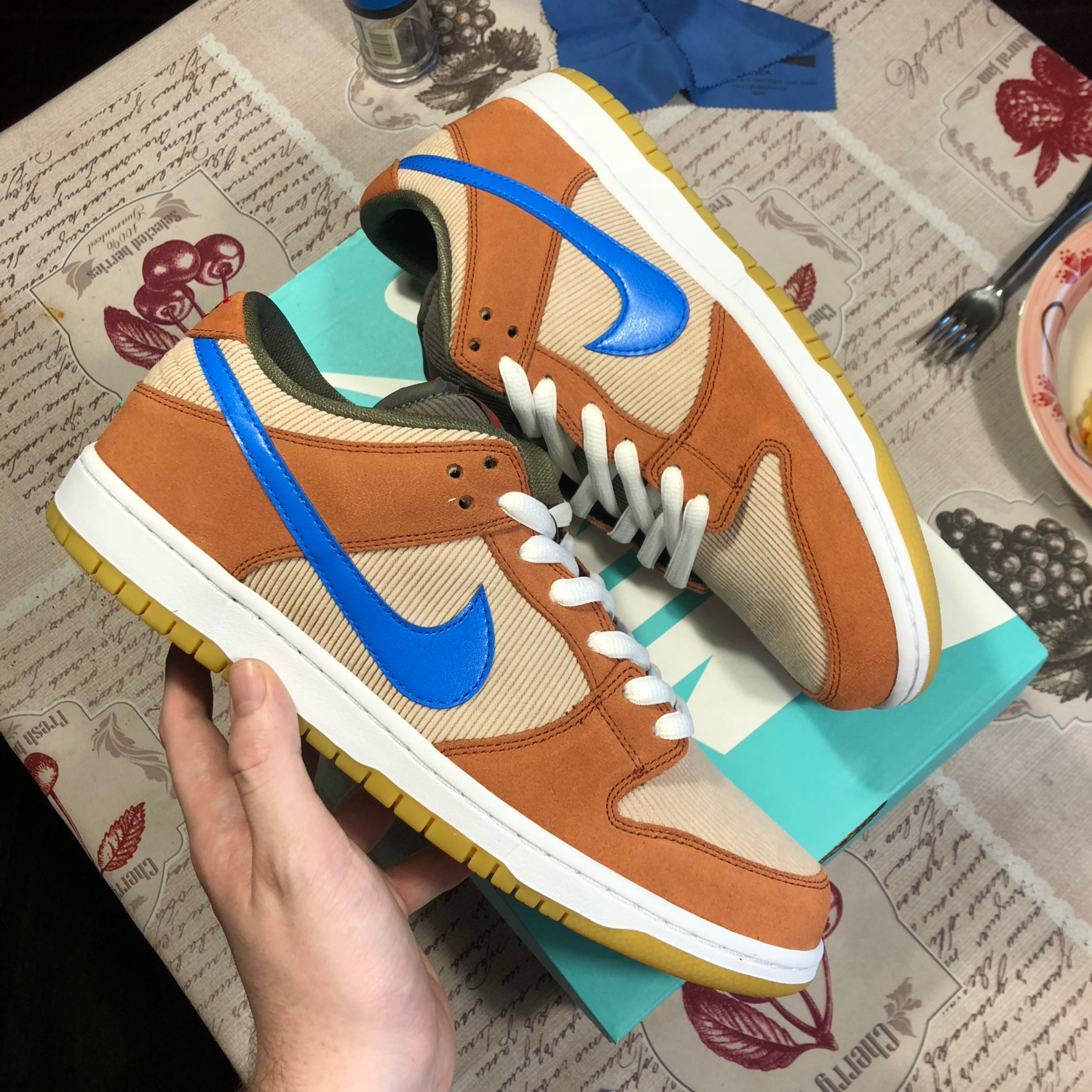 hot products new high timeless design Nike Dunk Sb Corduroy Dusty Peach/Photo Blue