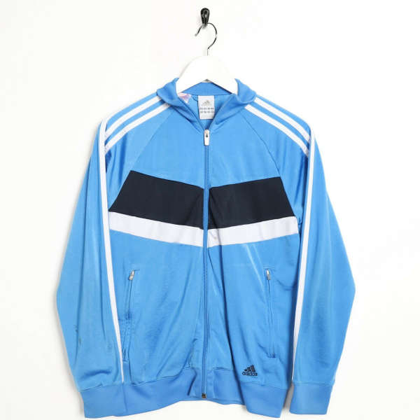 Vintage Women's ADIDAS Small Logo Zip Up Track Top Jacket Blue | Small S