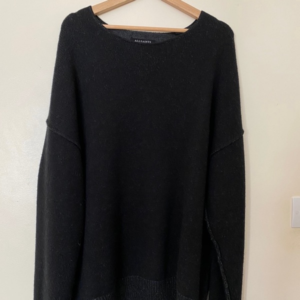 Allsaints Tattoo Jumper Black