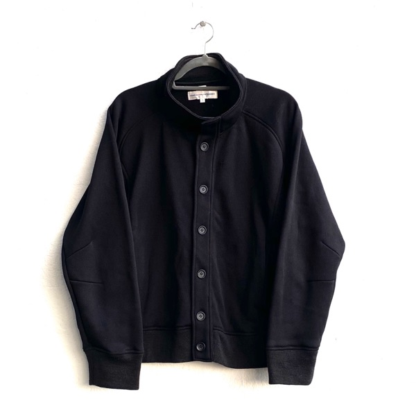 Comme Des Garcons Black Button Up Jumper Top