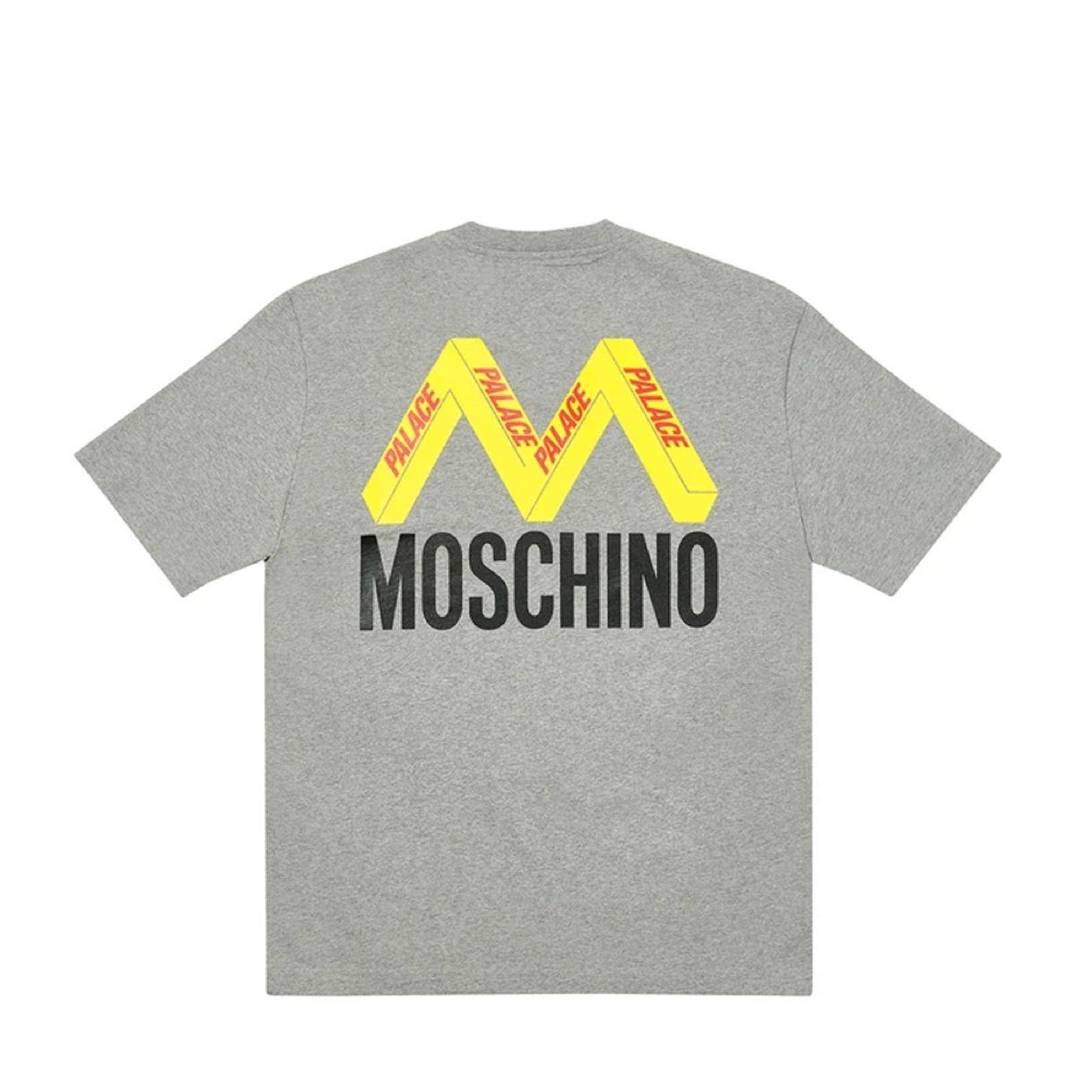 Palace Moschino T Shirt Grey Marl