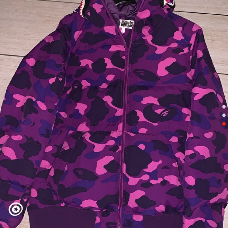 BAPE Down Jacket Purple