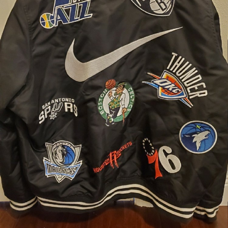 Supreme Nike x NBA Teams Warm-up Jacket Black