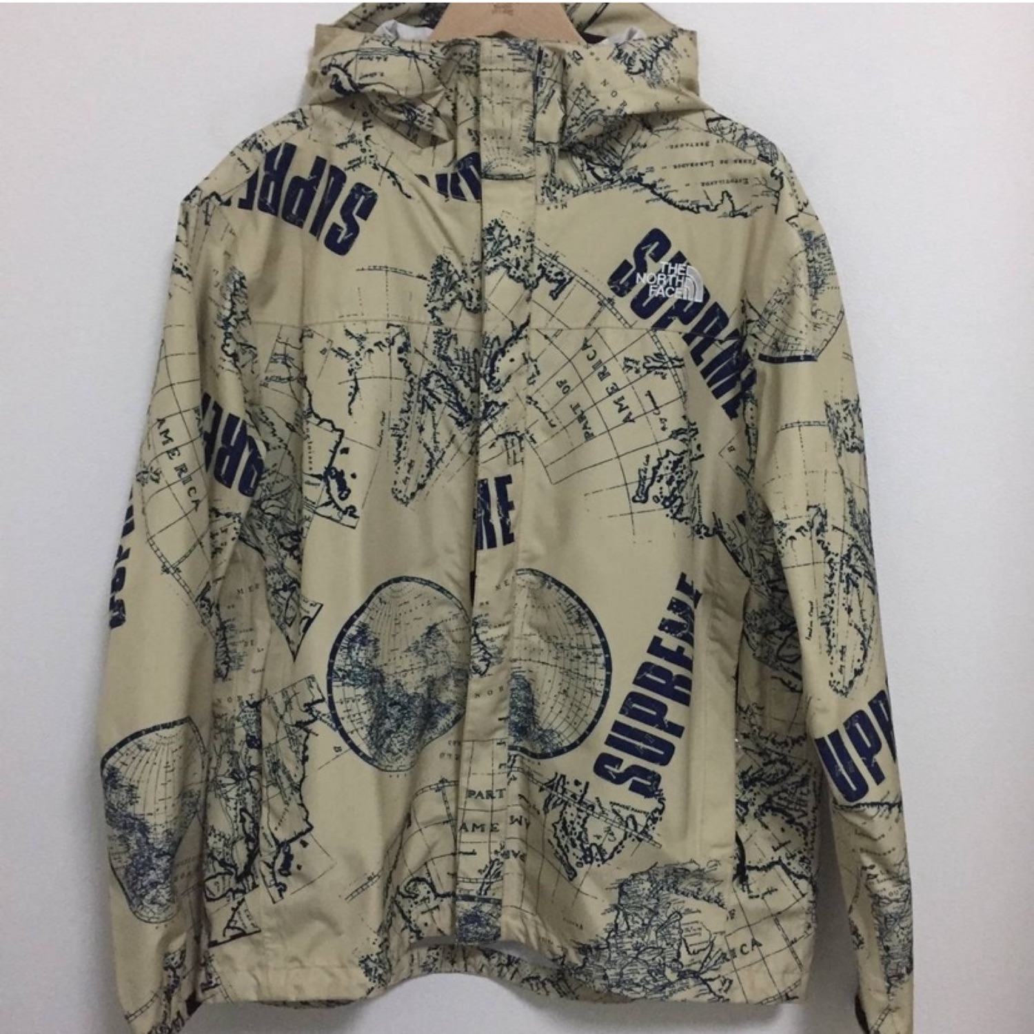 Supreme X North Face Ss12 World Map Venture Jacket