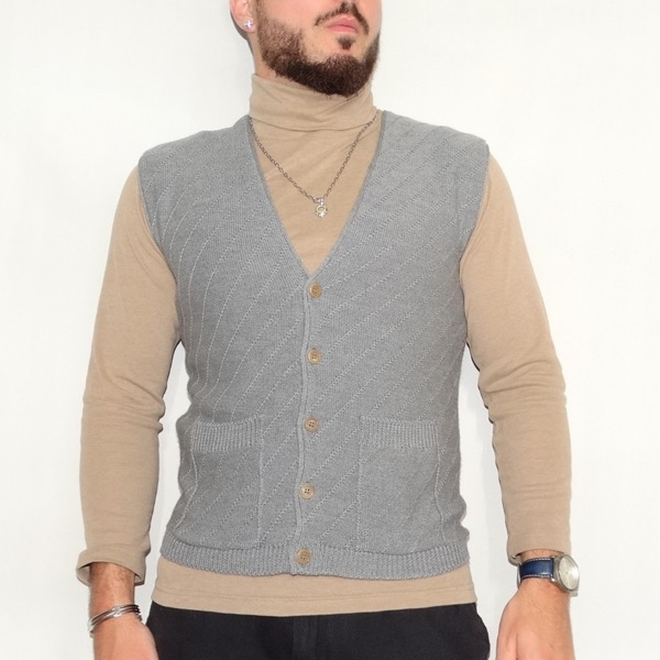 Cerruti 1881 Wool Vest Made In Italy Size S