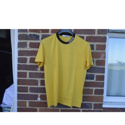 Givenchy Yellow Embroidered Logo Collar T-Shirt