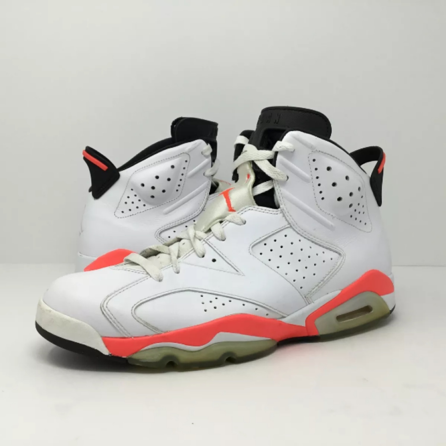 info for eb5e4 46615 Nike Air Jordan 6 Vi White Infrared Size 11