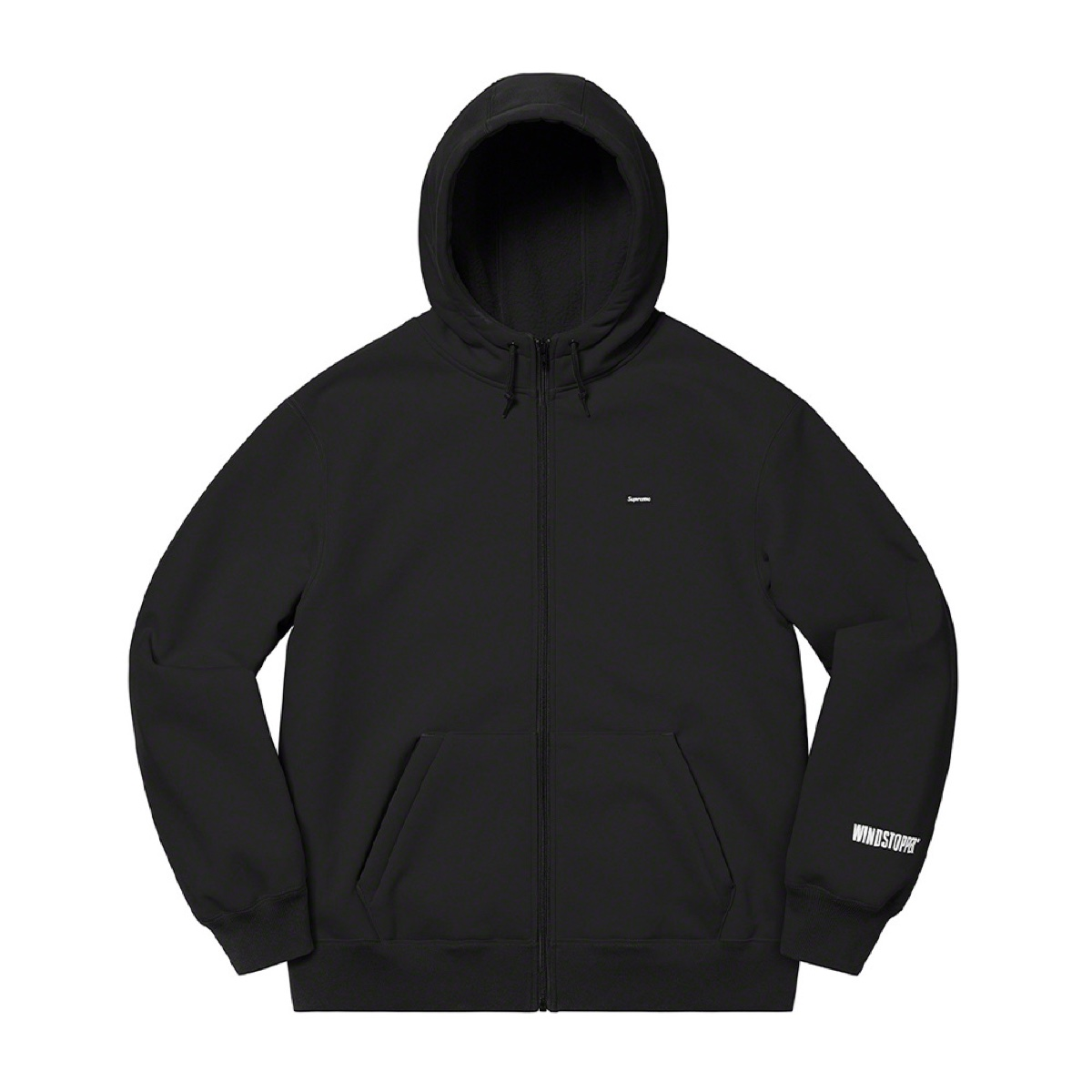 Supreme Windstopper Zip Up Hooded Sweatshirt Black