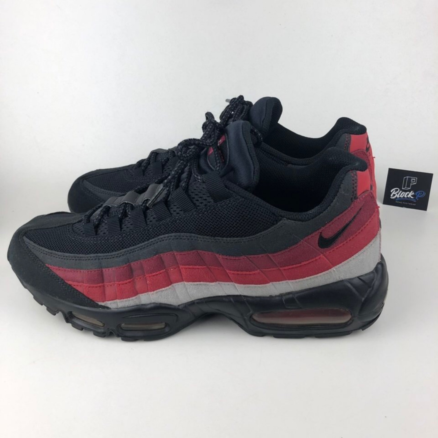new product d2954 49115 Nike Air Max 95 Red Black Grey