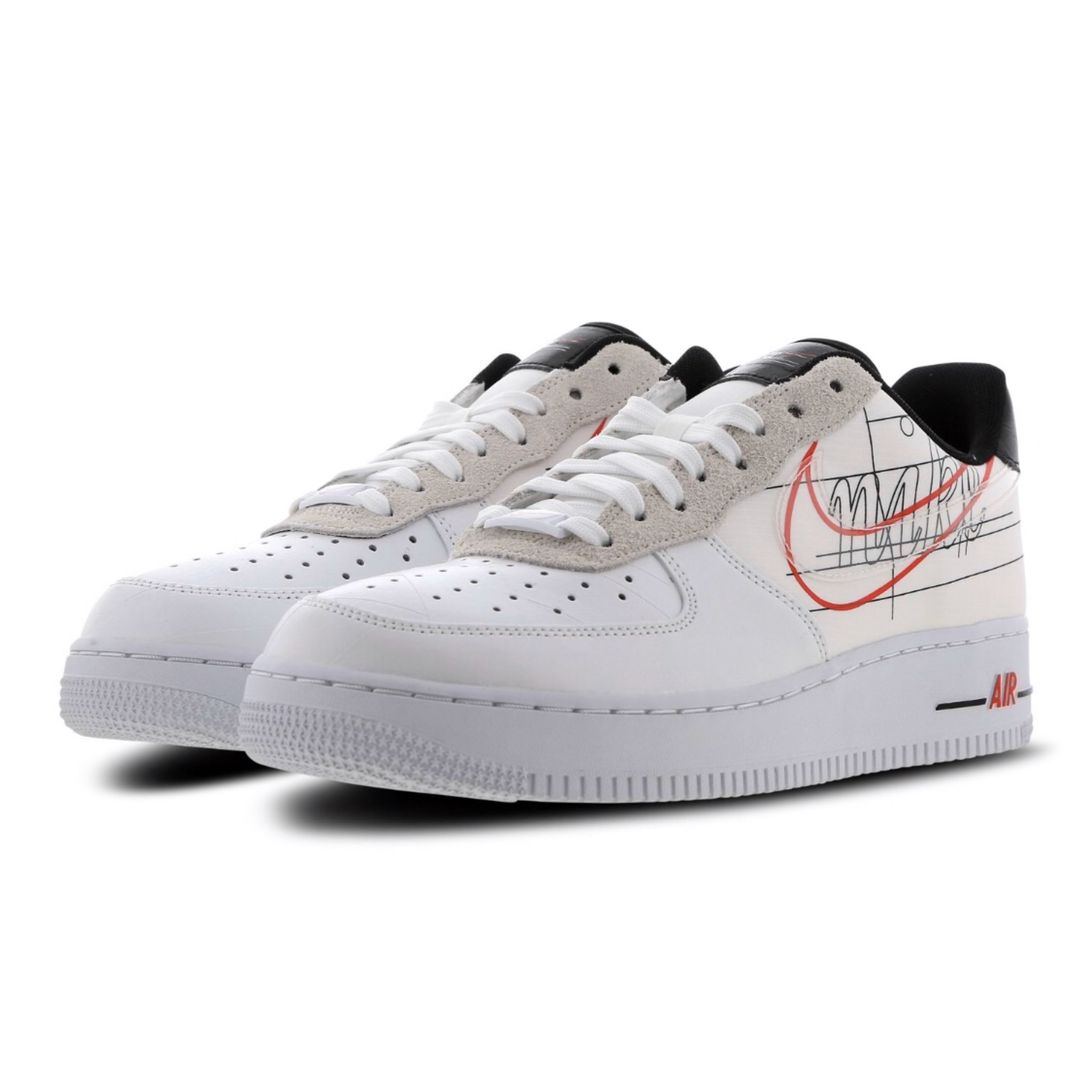promo code d5336 bda19 Nike Air Force 1 Af1 Low Script Swoosh Us 8 Eu 41
