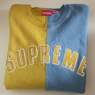 FW18 Supreme Split crewneck Size XL