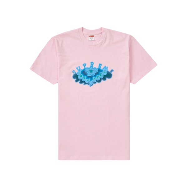 Supreme Ss19 Clouds Tee In Light Pink Xl