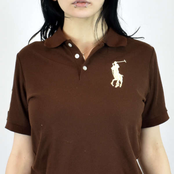 Vintage Ralph Lauren polo shirt t shirt pullover in brown