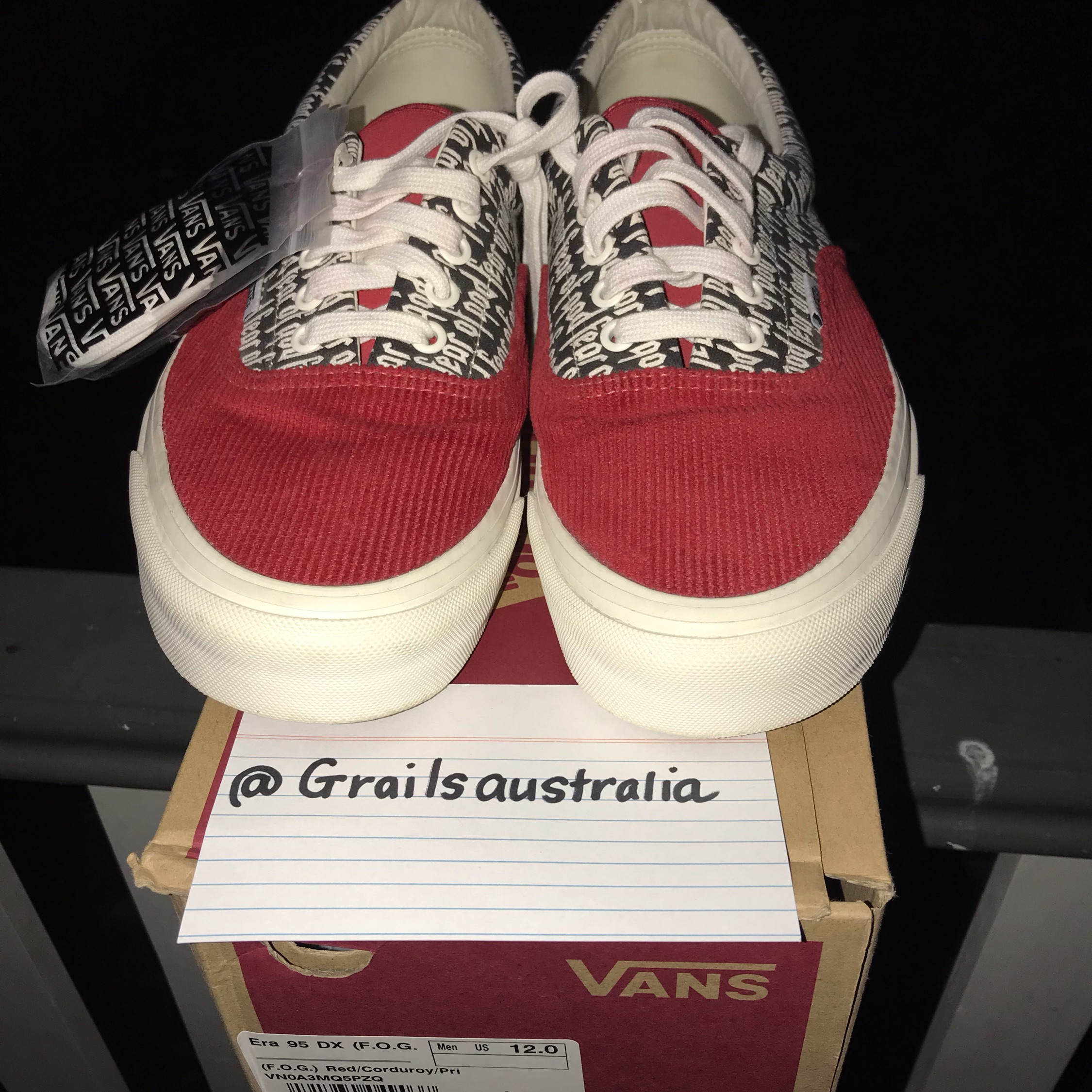 factory outlet enjoy discount price new photos Red Fog Vans