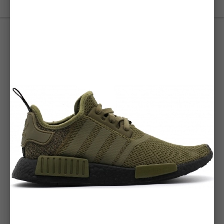 info for 67f6c 033cb Adidas NMD R1 Olive Black Ds