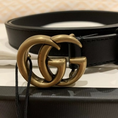 Gucci Leather Belt With Double G Buckle Size 90/36