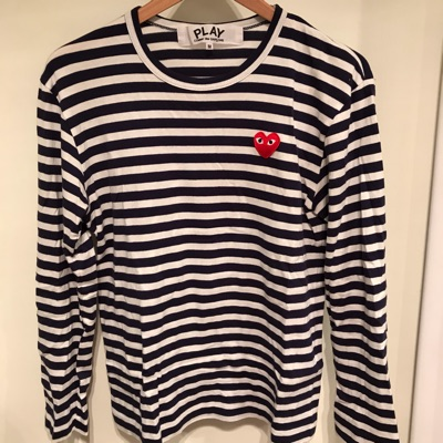 Commes Des Garcons Play Long Sleeve Striped Shirt