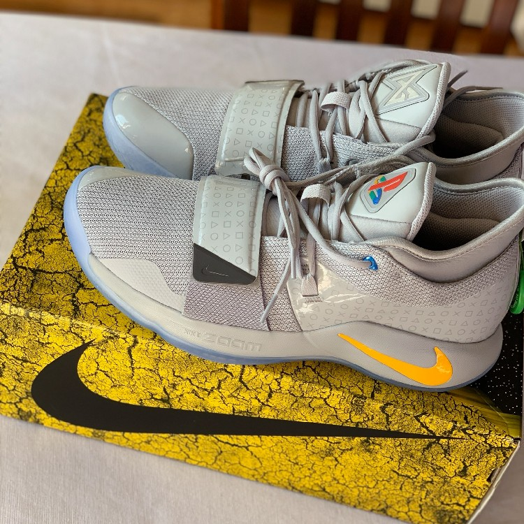 promo code 0ffde 41293 NEW Nike PG 2.5 PlayStation Wolf Grey Paul George Size 13 Mens Deadstock