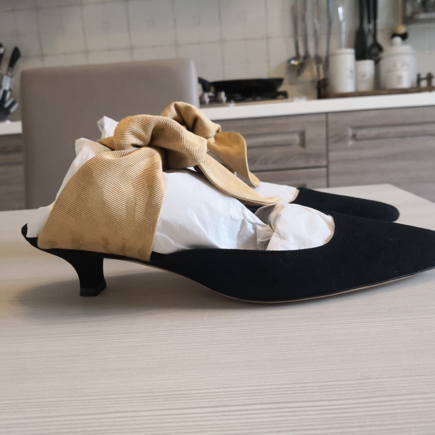 The Row - Coco Suede And Satin Mules