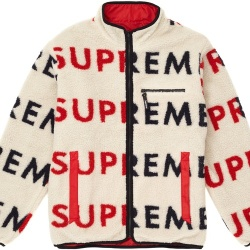 Goretex X Supreme Reversible Windstopper Logo Fleece Jacket Cream & Red XL