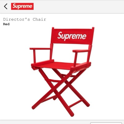 Supreme Red Directors Chair