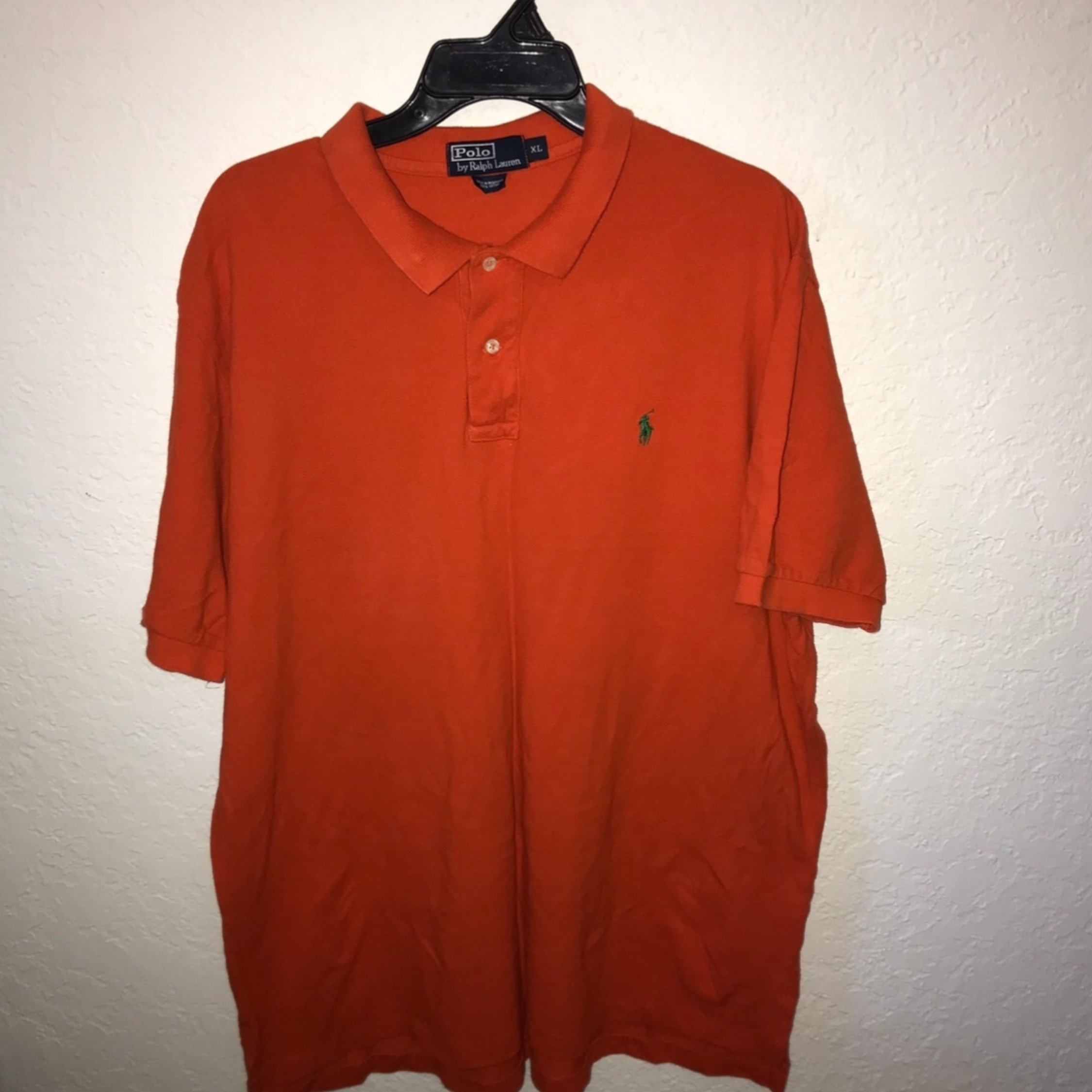 Lauren Polo Orange Shirt Vintage Ralph Xl shQrdtCx