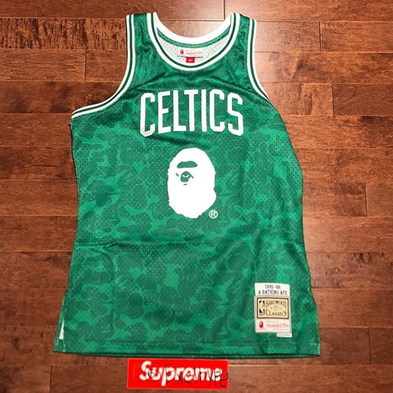 quality design 431ed d4783 Bape Boston Celtics Mitchell & Ness Jersey