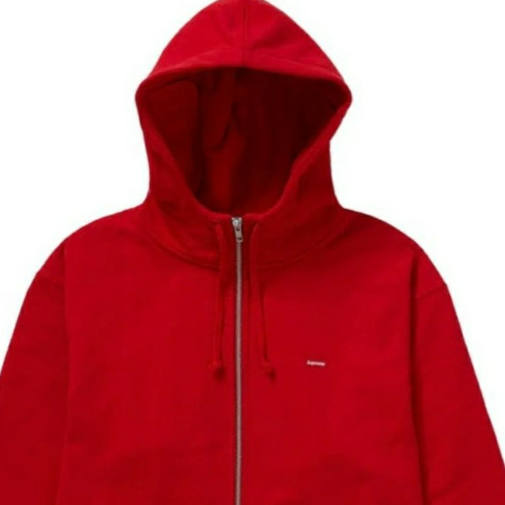 Supreme Small Box Facemask Zip Up Hooded Sweatshirt Red