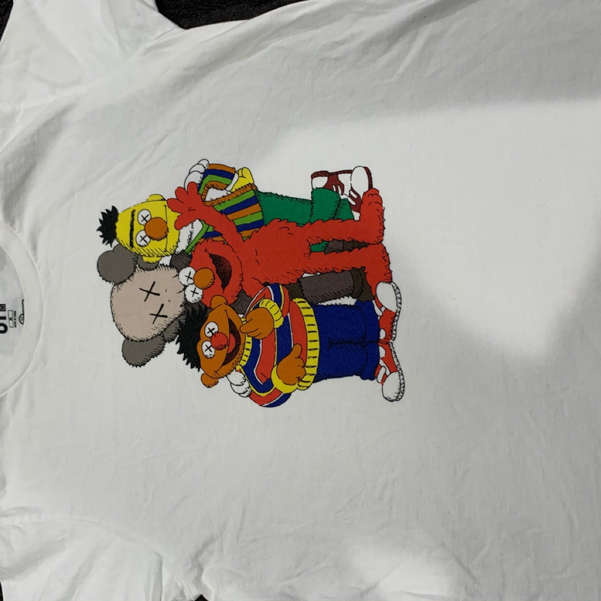 KAWS x Uniqlo x Sesame Street Group #2 Tee White