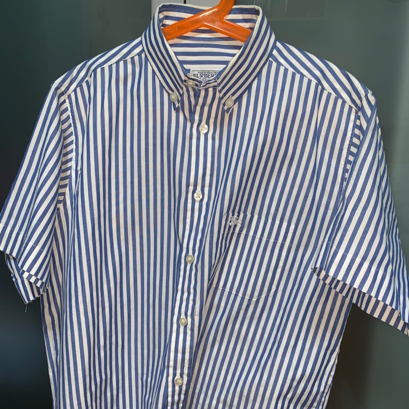 Burberry Short Sleeved Shirt Blue/White