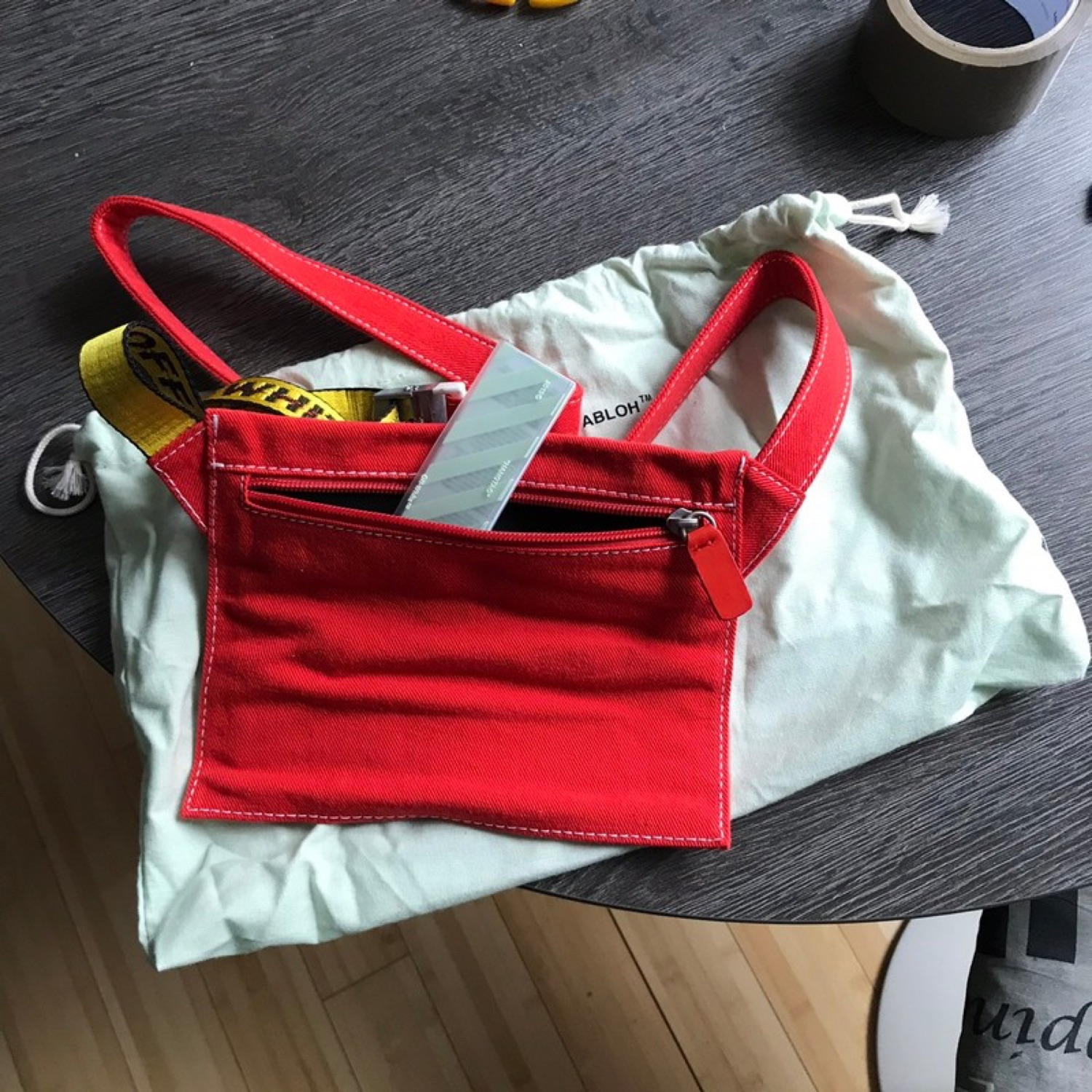 Off-White Cross Body Double Side Bag Brand New