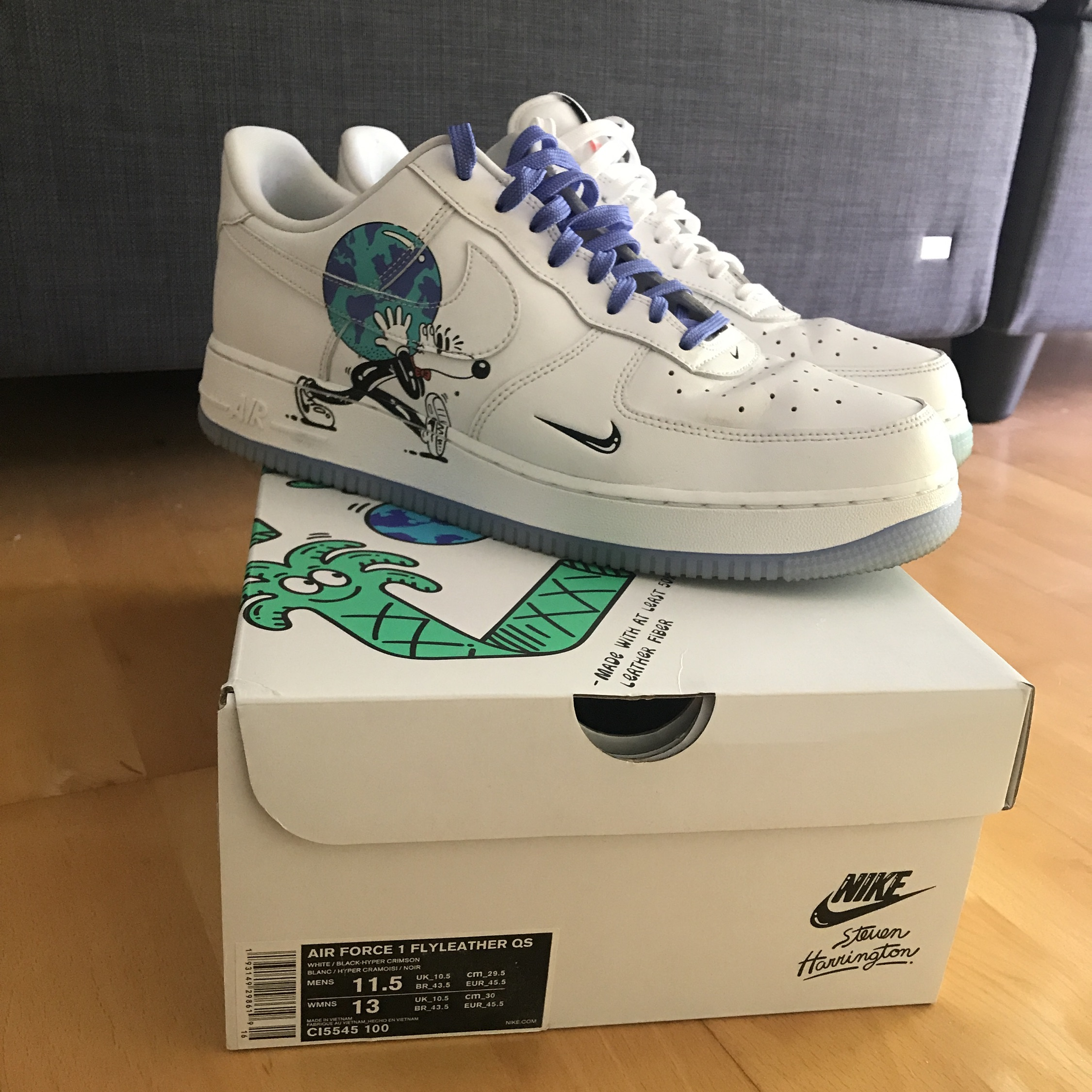 f3524acf93 Nike Airforce Earth Day