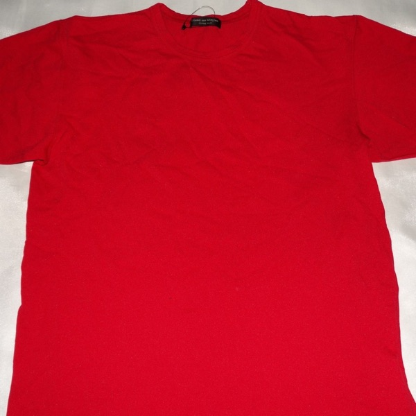 Comme Des Garcons Homme Plus Red Tee 100% Nylon