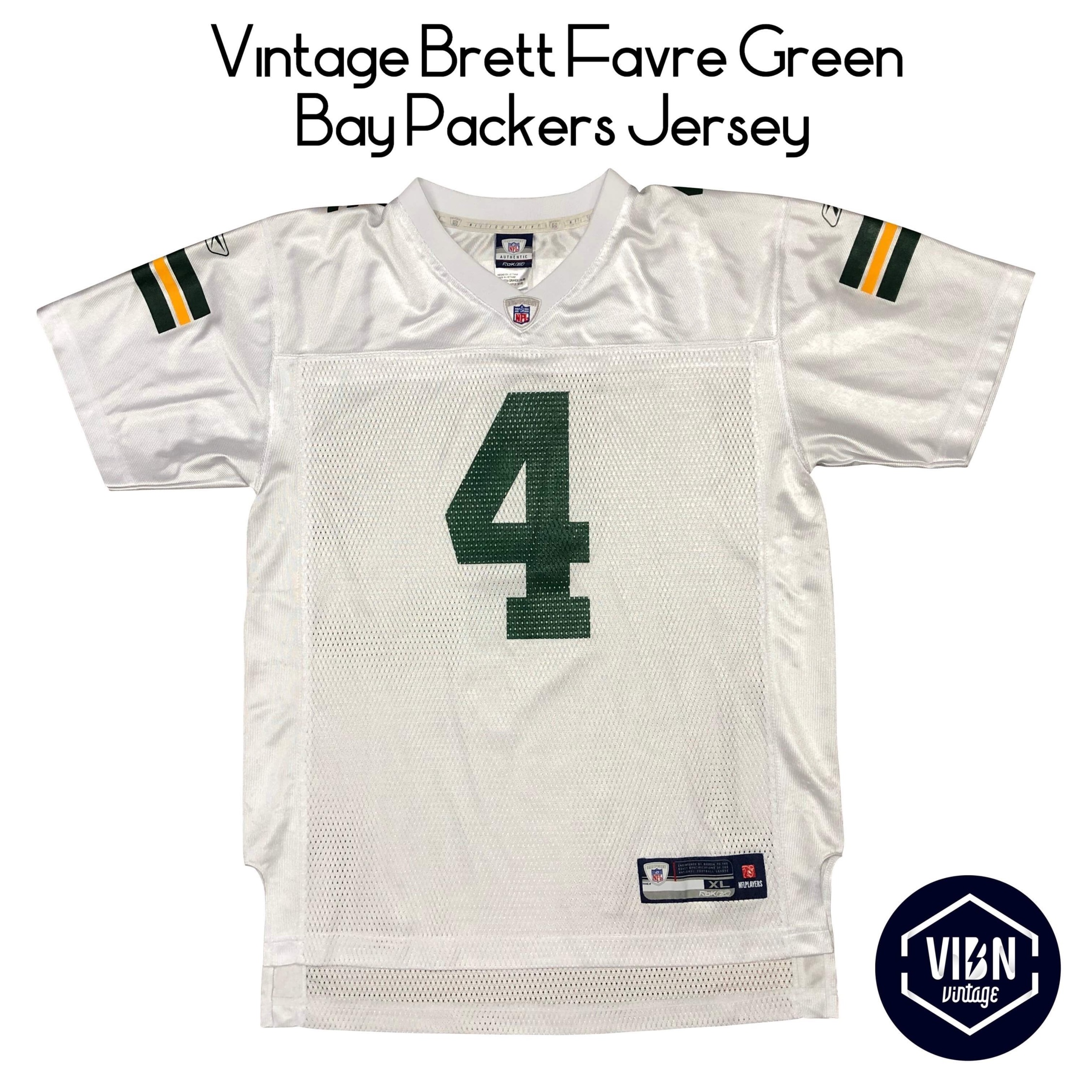 innovative design 08b09 bf6ab Vintage Brett Favre Green Bay Packers Jersey