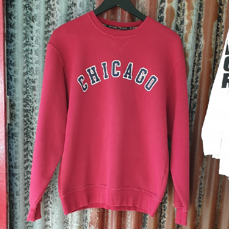 uk availability fd8f6 30404 Vintage Red Sweatshirt With Chicago Print