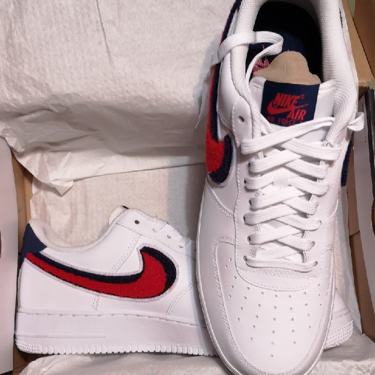 the latest 84893 2e7e8 AIR FORCE 1 LOW 3D CHENILLE SWOOSH