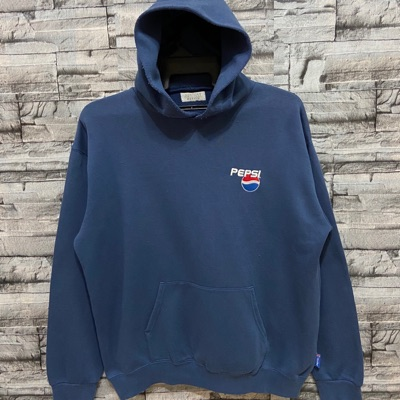 Vintage Pepsi Small Logo Embroidered Hoodie Fit Xl