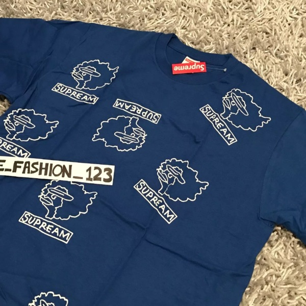 Supreme Gonz Heads Tee Large Royal Blue