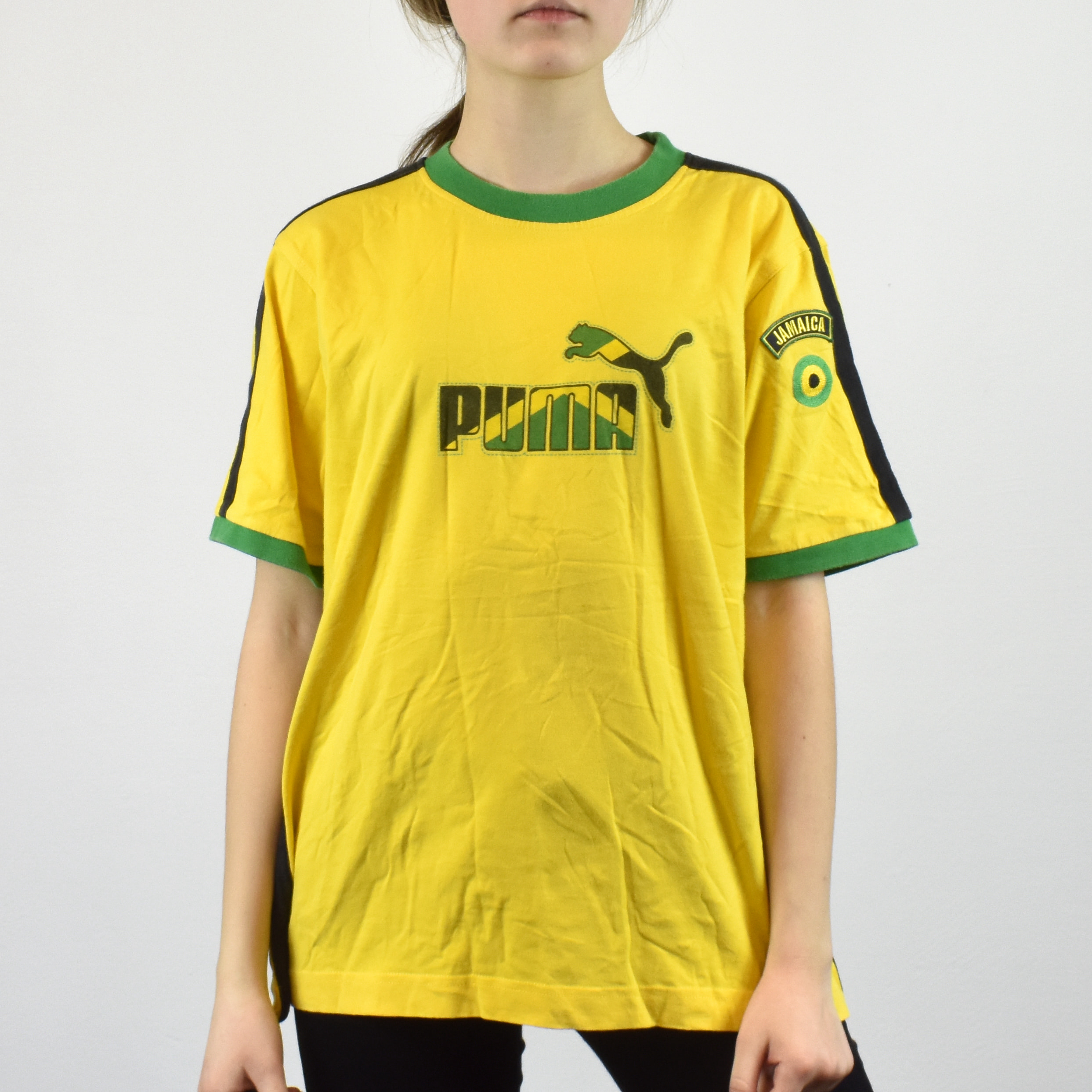 Size Shirt Themed M T Unisex In Vintage Jamaican Flag Puma Tee Colors JlFTcK13