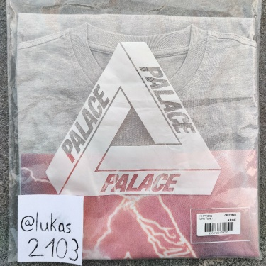 Palace Corn T-Shirt Grey Marl